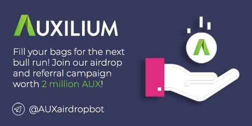 Auxilium airdrop announcement
