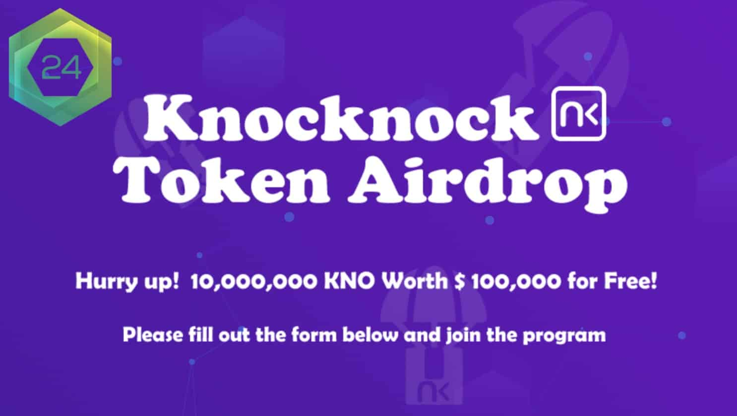 Knocknock Network Airdrop announcement