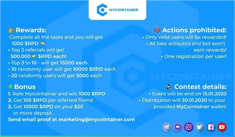 MyCointainer RPD Airdrop