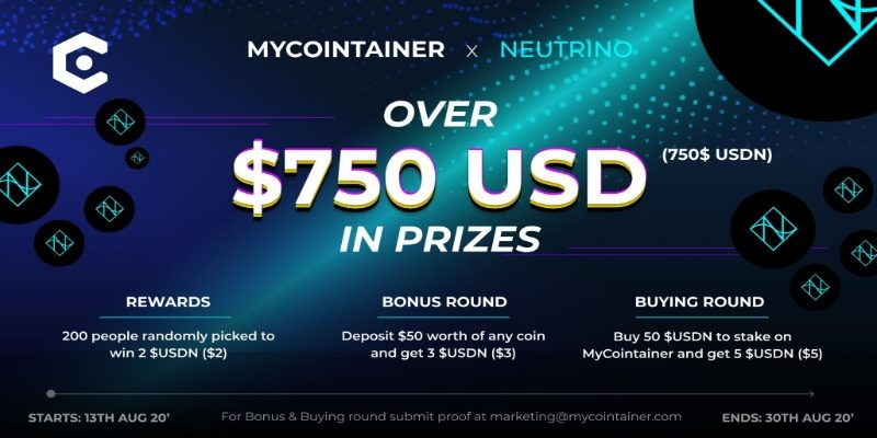 MyCointainer x Neutrino Giveaway