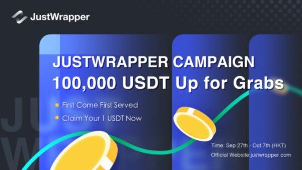 Justwrapper USDT Giveaway