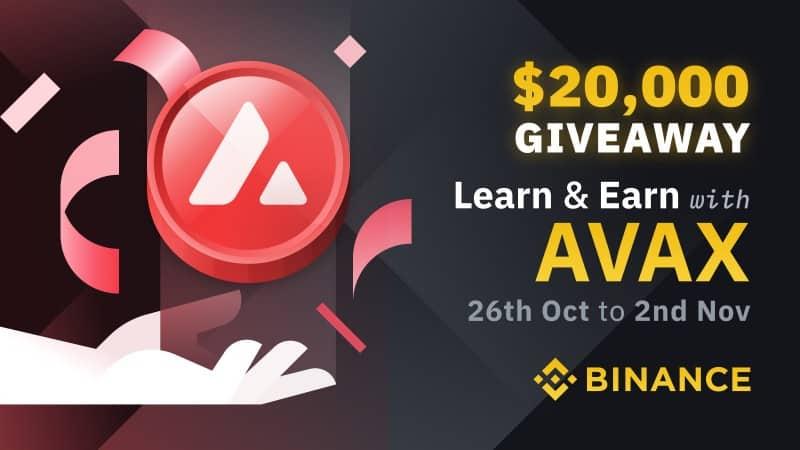 Binance Learn & Earn Giveaway (AVAX)