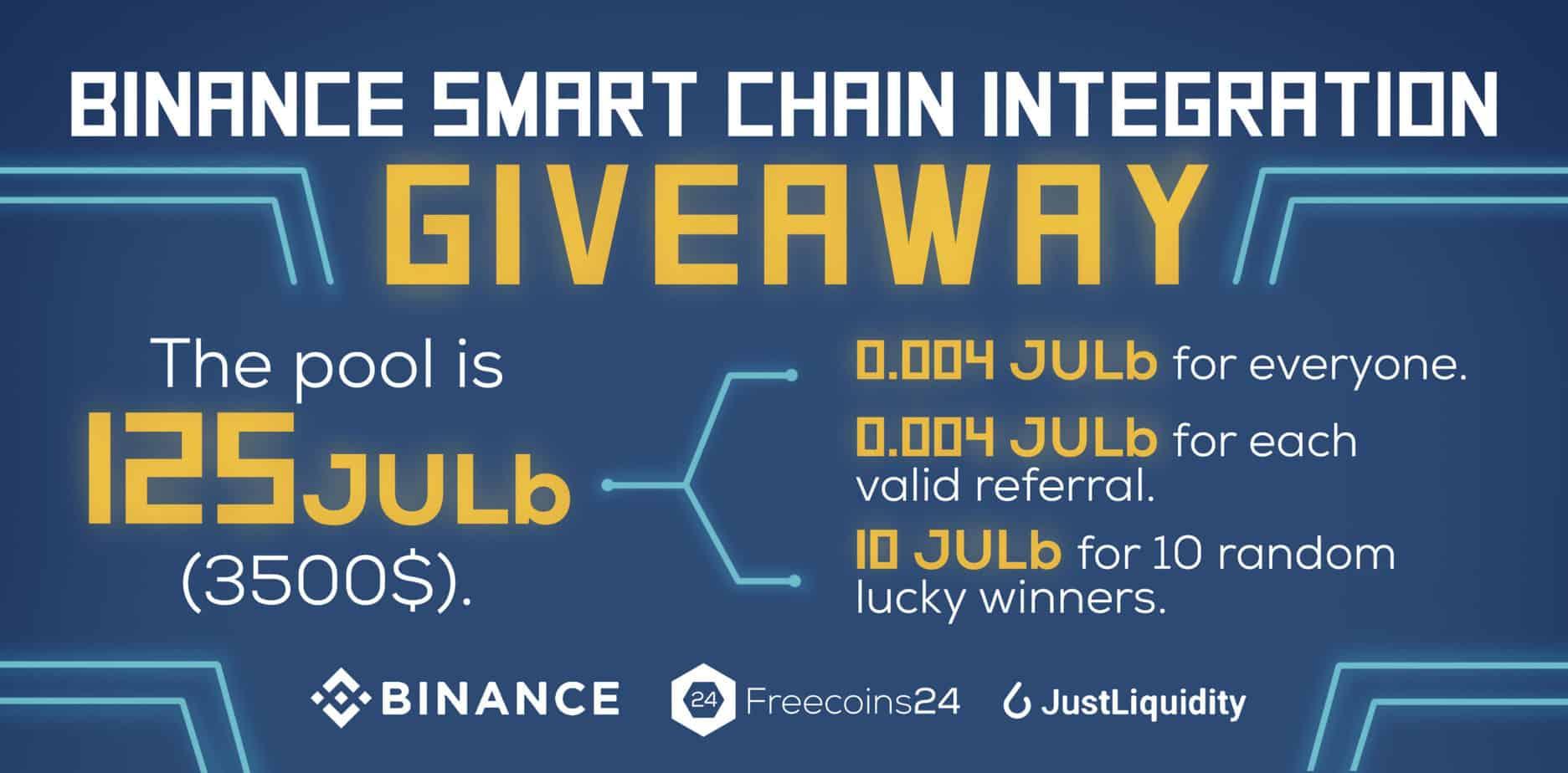Binance Smart Chain integrationGiveaway