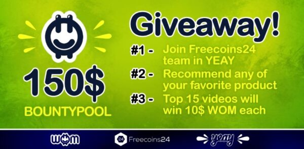 YEAY x Freecoins24 Airdrop