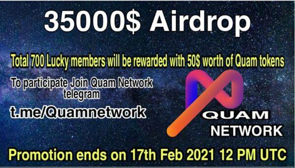 Quam Network Airdrop