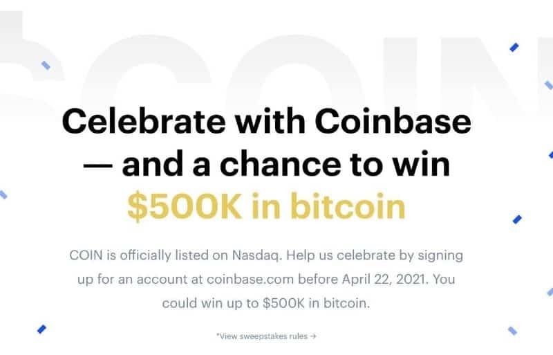Coinbase-Nasdaq Giveaway
