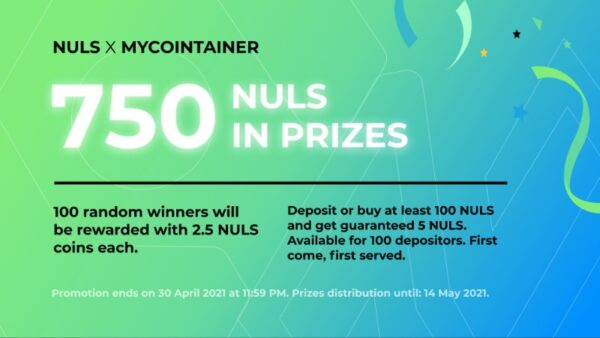 MyCointainer x NULS Giveaway