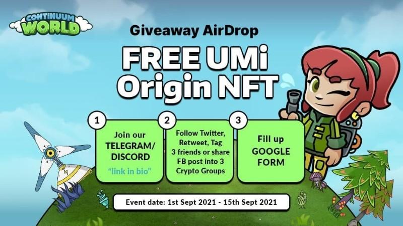 Continuum World UMi Origin NFT Airdrop